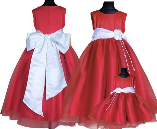 2ab6917ae3 Elegancka sukienka RED wesele święta 152 158 7295895085 - Allegro.pl -  Więcej niż aukcje.