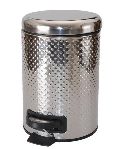 Kosz Na śmieci Do łazienki Wc Srebrny Z Klapą 3 L