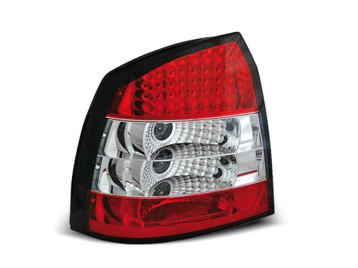 Lampy Tył Opel Astra G Red White Led Diodowe