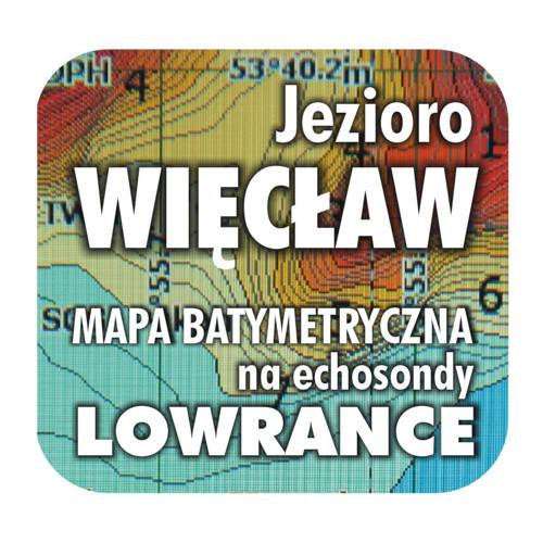 Jezioro Więcław mapa na echosondy Lowrance Simrad