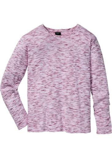T-shirt róż-melanż d.rękaw Bawełna R 60 unisex
