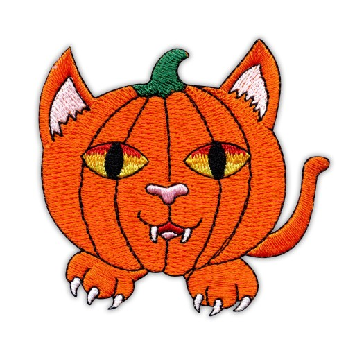 Naszywka-DYNIOWY KOT Halloween PUMPKIN CAT, dynia