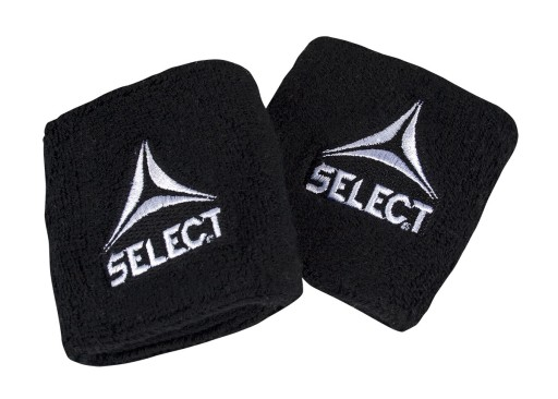 Frotki na nadgarstek Select Sport czarne 2 sztuki