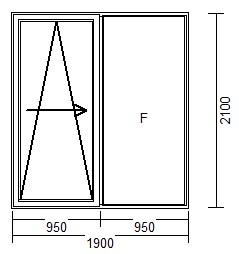 Drzwi Tarasowe Psk 1900 X 2100 Upf 30 Drutex