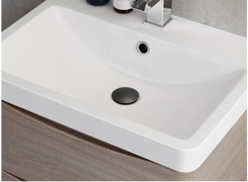 Korek łazienka Umywalkowy Klik Klak Czarny Mat
