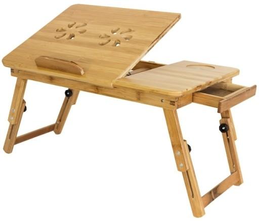 Komfortowy Bambusowy Stolik Pod Laptopa 17