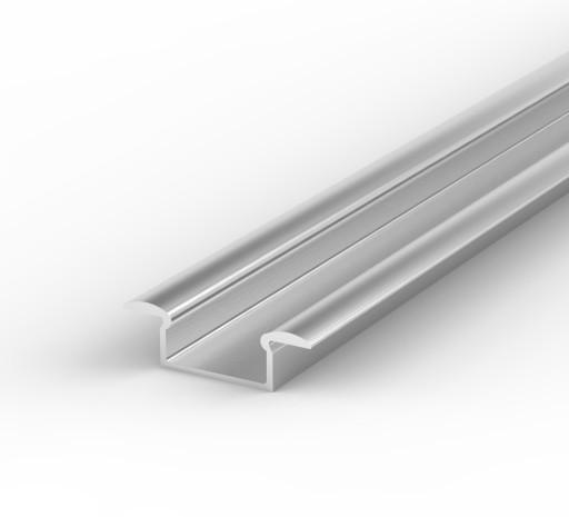 Wpuszczany Aluminiowy PROFIL LED + KLOSZ 1m