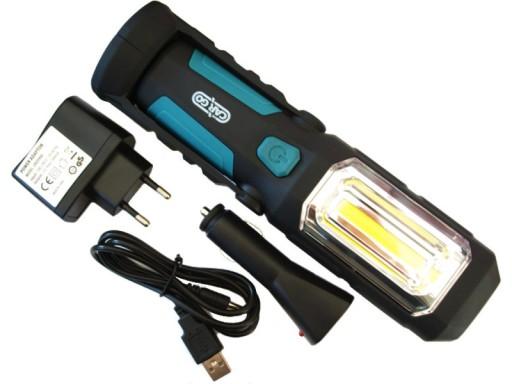 Lampa warsztatowa LED CARGO magnes akumulator