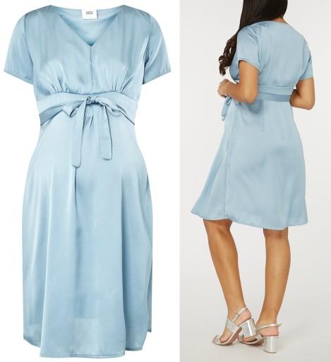 6406cbf8de6f41 MAMA LICIOUS sukienka ciążowa niebieska 38 M 7786288513 - Allegro.pl