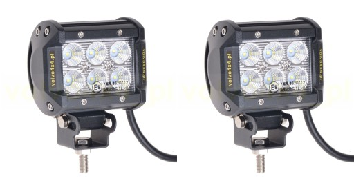 THE LAMP ROBOCZE HALOGENS 18W LED CREE 36W A SET 4x4