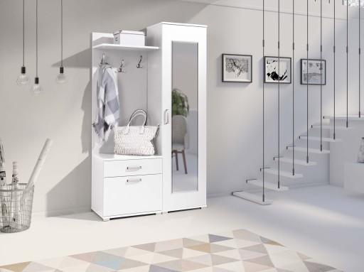 Biała Garderoba Lustro Szafka Przedpokój Solidna
