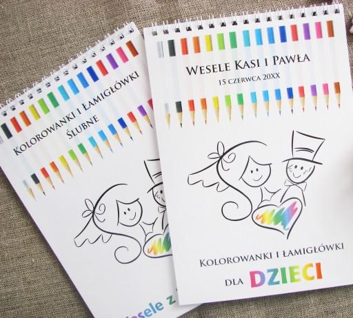 Kolorowanki ślubne Weselne Dla Dzieci Artcard 7524407397 Allegropl