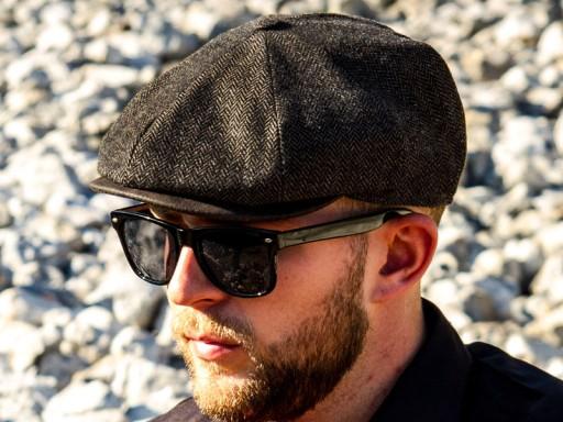 Kaszkiet męski motocyklowy zima zimowy czapka, L