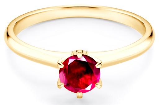 Złoty Pierścionek Zaręczynowy Savicki Rubin 585 7044302711 Allegropl