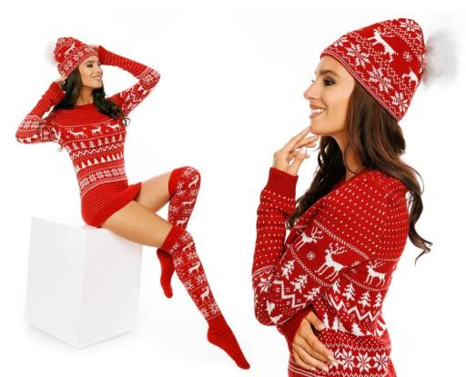 Sweter Swiateczny Dla Niej Prezent Kolory Gratisy 7676409187 Allegro Pl