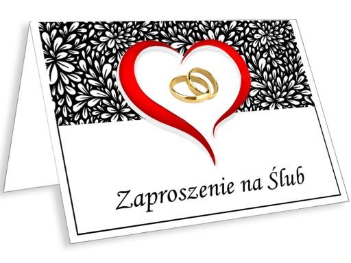 ładne Zaproszenia Na ślub Kościelny Cywilny 6642789549 Allegropl
