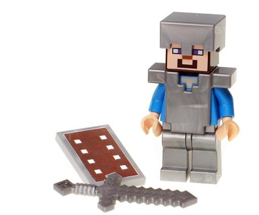 Figurka Steve tarcza zbroja LEGO Minecraft / 21137