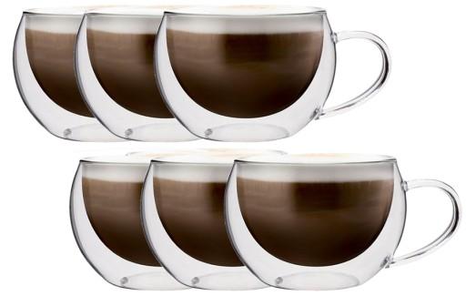 Szklanki Termiczne Z Uchem Kawy Herbaty 300ml 6szt 7297239511