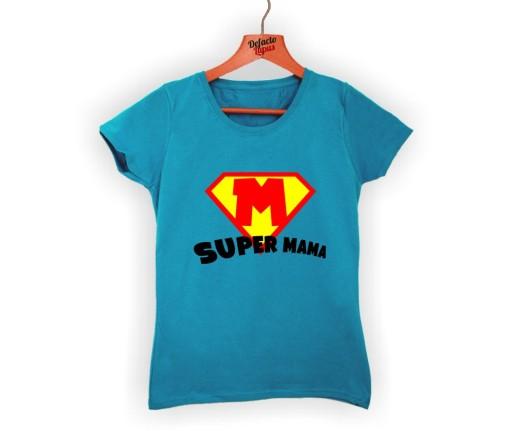 1491177280 koszulki z nadrukami dla mam super mama PREZENT 7488228257 - Allegro.pl