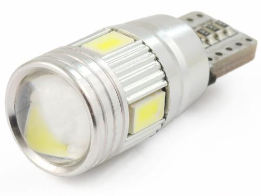 6 LED 5630 W5W Can Bus CANBUS żarówka soczewka