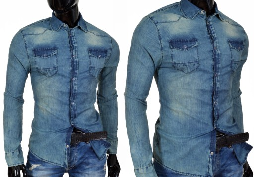 Koszula Jeans CIPO BAXX w Koszule męskie Allegro.pl