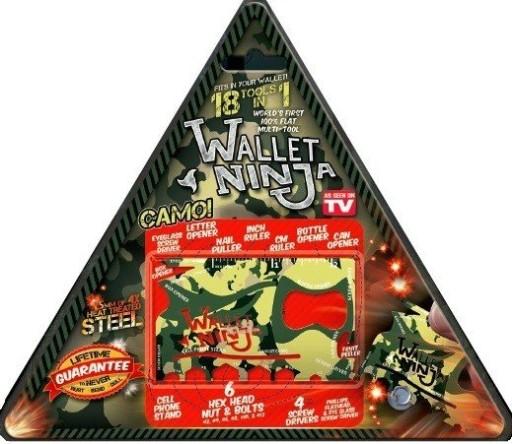 Oryginalny Wallet NinjaCamo 18w1 Karta przetrwania
