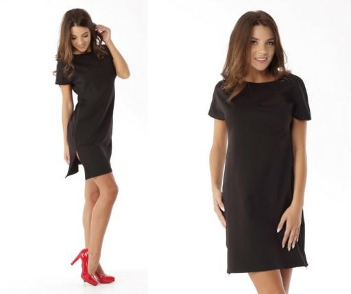 f61635ea08 Dresowa sukienka z bocznymi zamkami XL Promocja 7391362574 - Allegro.pl