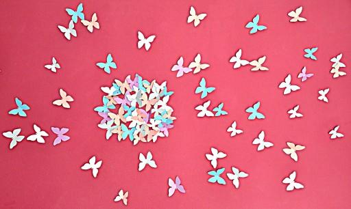 Motylki Motyle 3D naklejki na ścianę 30szt+5GRATIS