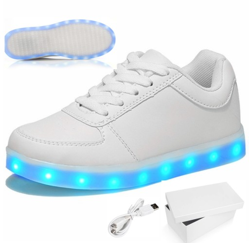 Swiecace Buty Led Biale Niskie Sportowe Adidasy 37 7861142750 Allegro Pl