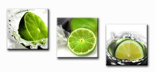 Obrazy Tryptyk Owoce Limonki Obraz Do Kuchni 90x30