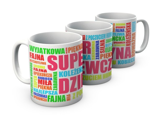 KUBEK prezent na DZIEŃ KOBIET kubki SUPER + IMIĘ