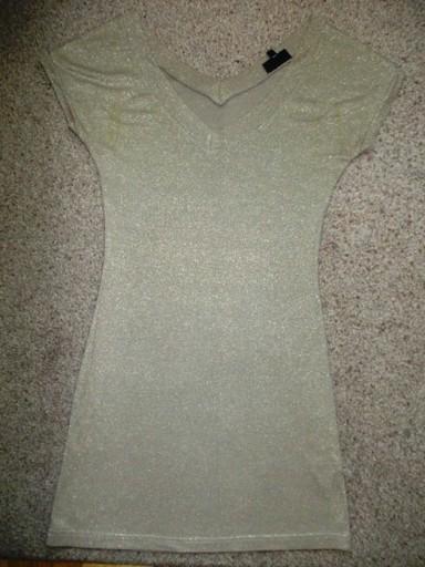 Sukienka tunika złota ołówkowa Warehouse ( 34 / 36