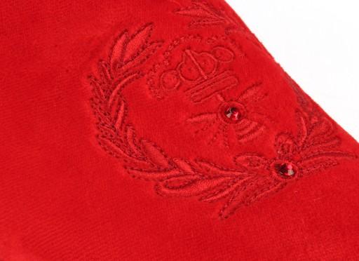 43Scarpe-esclusive mokasyny czerwone cyrkonie haft 7239132573