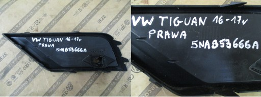 Zaślepka zderzaka prawa Tiguan 5NA