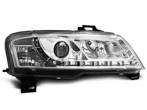 Lampy przód Fiat Stilo CHROM LED diodowe komplet