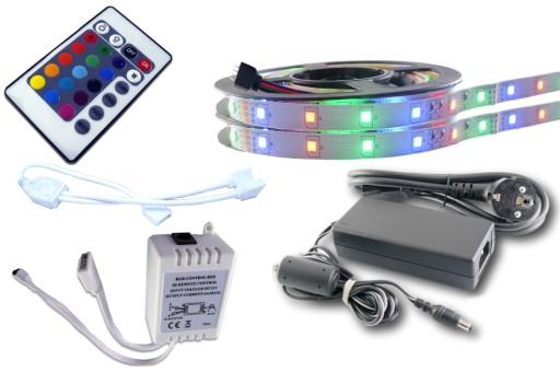 ZESTAW taśma LED 300 2835 3528 RGB sterownik 10m