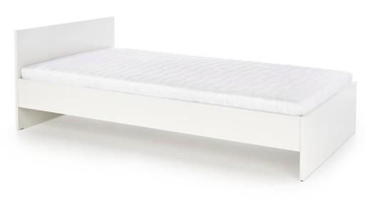 Tanie łóżka Białe łóżko 90x200 Wysoki Połysk Lima