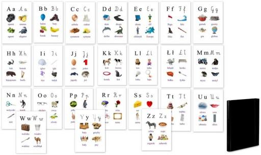 Alfabet Abecadło Nauka Pisania I Czytania Plansze 7427159849