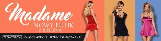 Obsessive Satinia szlafrok kolor: szary S/M