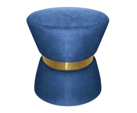 Puf niebieski welur JLS glam złoto