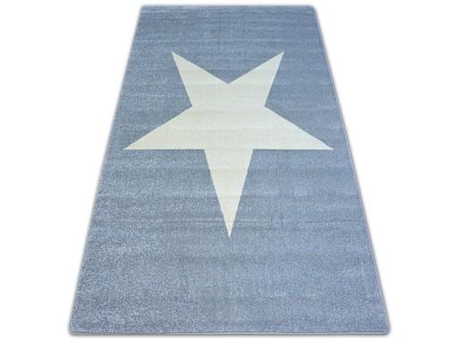 Dywany łuszczów Nordic 160x220 Gwiazda Szary A118