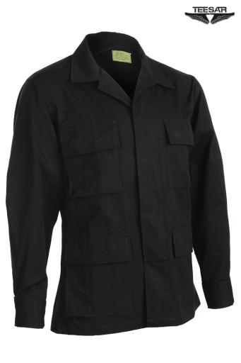 Bluza Wojskowa BDU TEESAR Bawełna R/S CZARNA - L