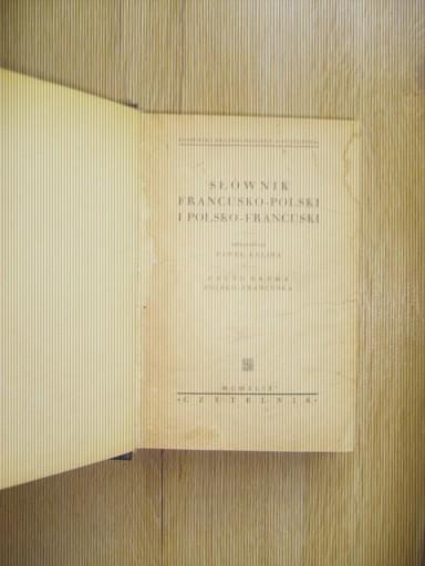 Kalina Słownik polsko-francuski 1949 wyprzedaż BCM