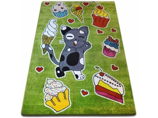 Dywany łuszczów Kids 160x220 Ciacho Zieleń Gr2345