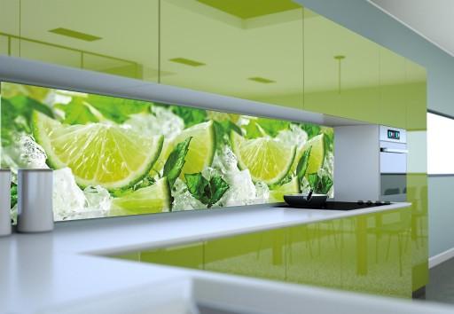 Panel Szklany Do Kuchni Uv Owoce W Wodzie 120x50