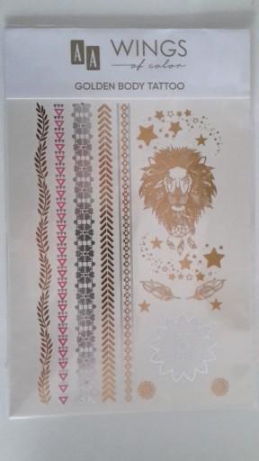 Aa Oceanic Tatuaże Metaliczne Złote Srebrne