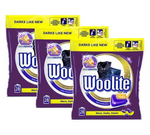 Woolite Dark Kapsułki Prania Czarnego 3x 28 = 84sz