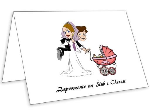 Zaproszenia Na ślub I Chrzest 2 W 1 Koperta 7017327045 Allegropl