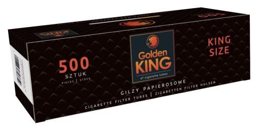 HIT! Gilzy papierosowe GOLDEN KING tutki 1000 szt