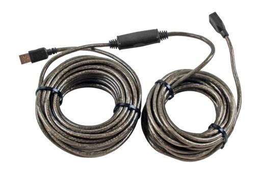 Przedłużacz kabel USB 2.0 aktywny 15 m przedłużka